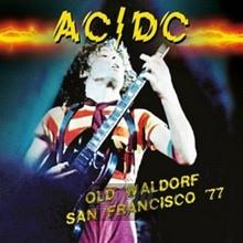 Old Waldorf San Francisco 77 - AC/DC